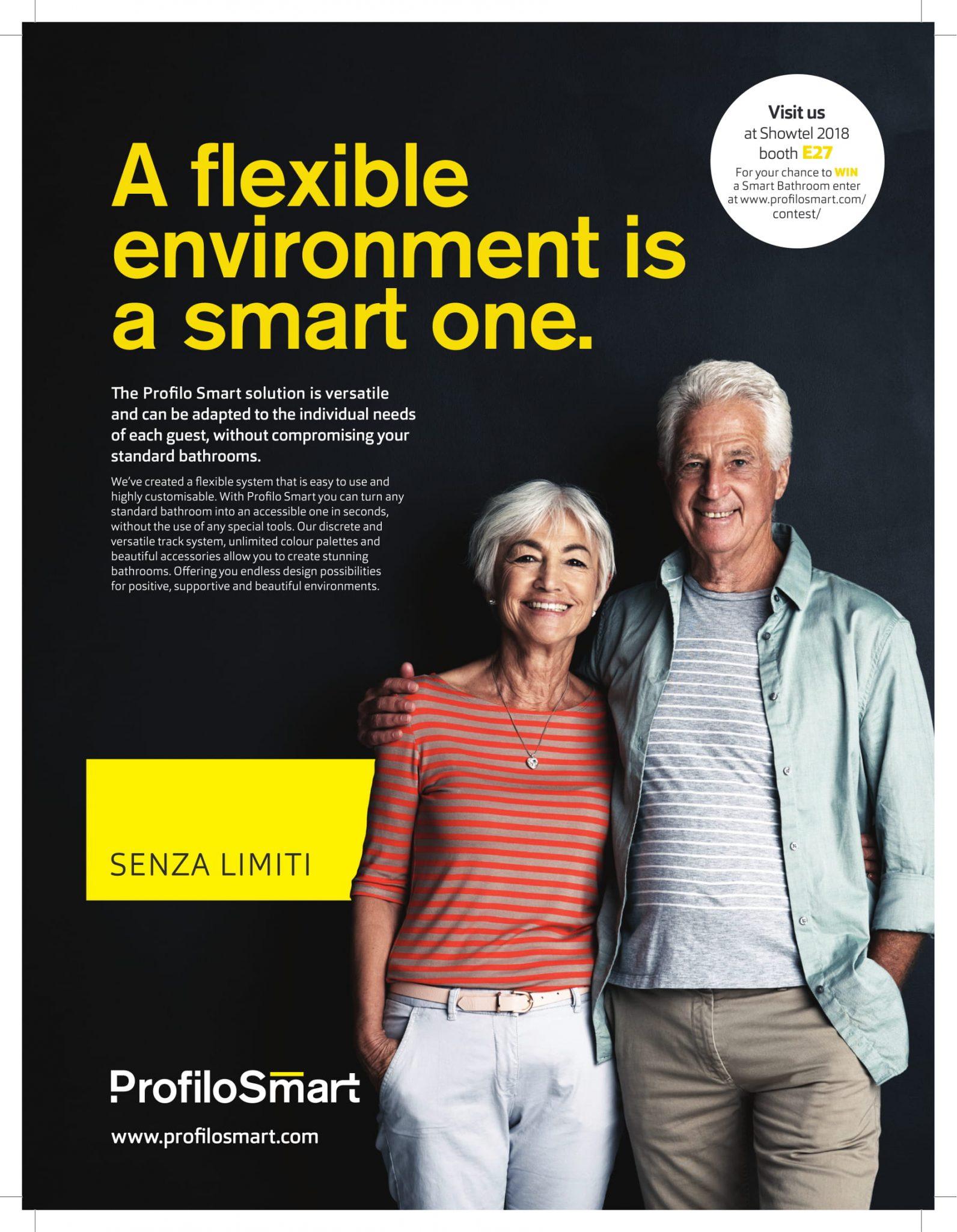 Profilo Smart, flexible, accessible, bathrooms, Universal Design