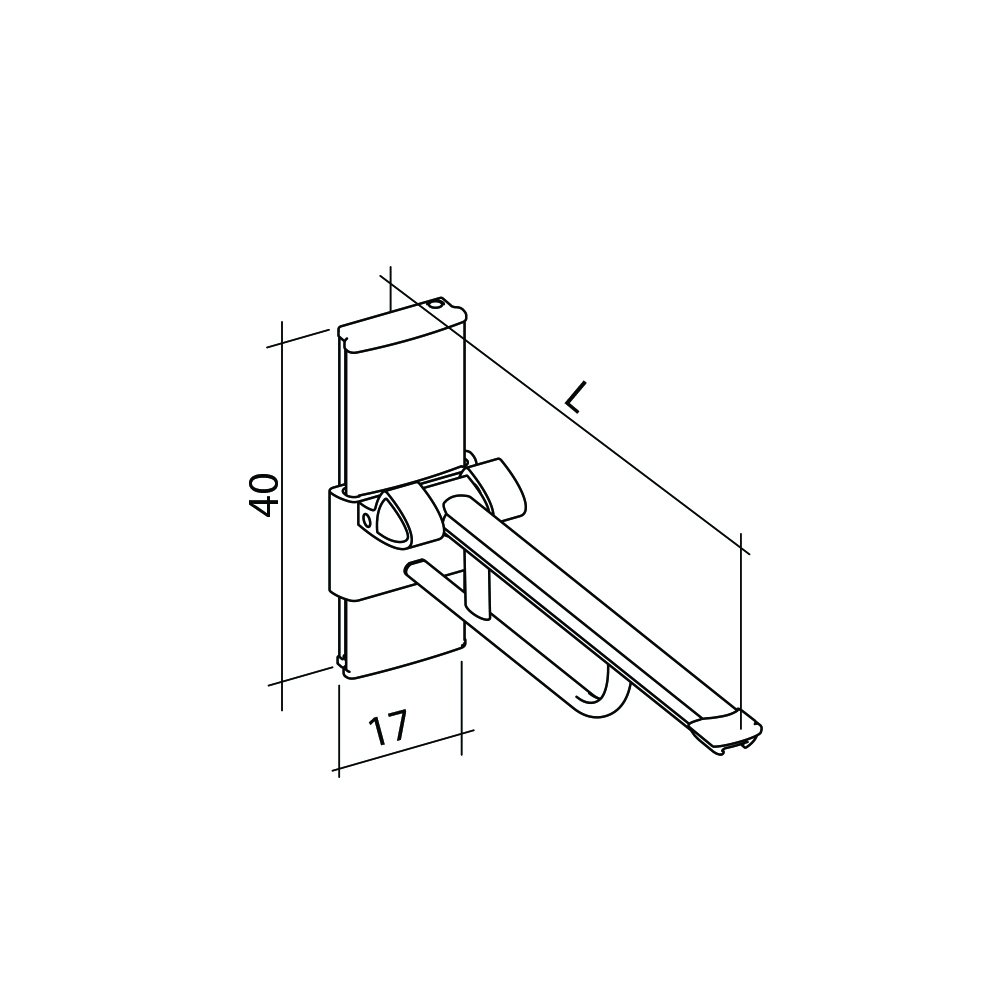 21-131-xx-wall-mounted-lift-up-arm-support-diagram