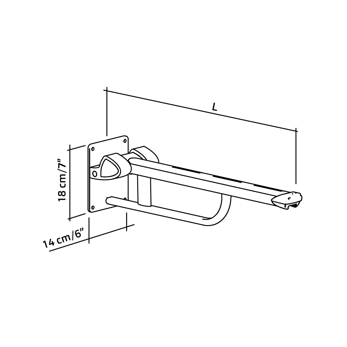 22-101-xx-wall-mounted-lift-up-arm-support-diagram