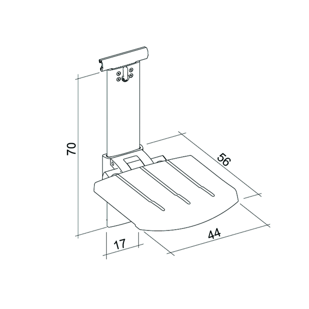 31-141-xx-shower-seat-for-horizontal-track-height-and-sideways-adjustable-diagram