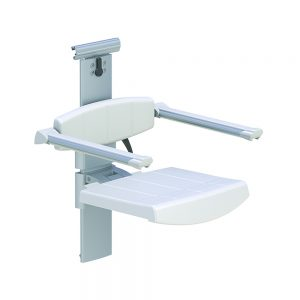 31-142-00-shower-seat-for-horizontal-track-with-backrest-armrest-height-and-sideways-adjustable-white
