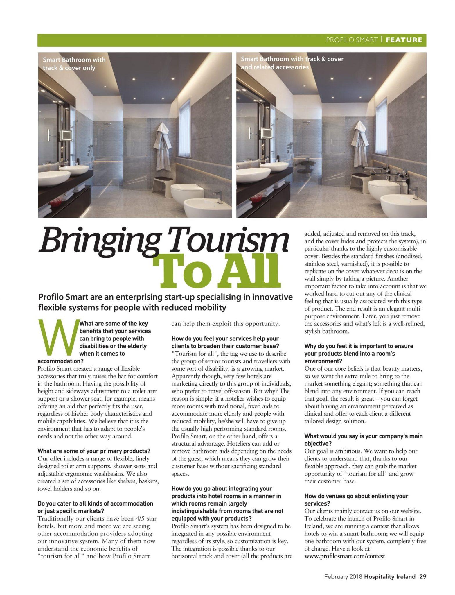 PROFILO SMART, accessible bathrooms, accessible rooms, Universal Design