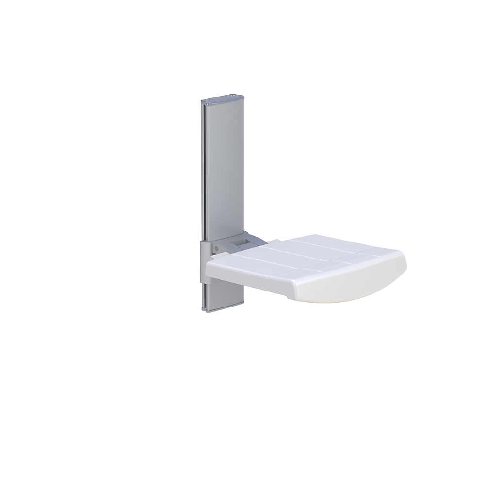 WALL MOUNTED SHOWER SEAT, HEIGHT ADJUSTABLE – Profilo